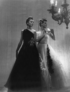 Stunningly chic late 1930s evening wear