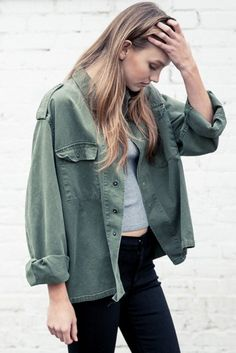 Brandy ♥ Melville | Alice Military Jacket - Clothing