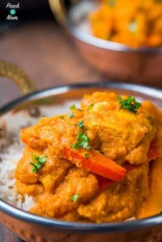 2 Syn Chicken Korma Curry | Slimming World-1 Slimming World Dinners, Slimming World Recipes, Diet Recipes, Healthy Recipes, Chicken Recipes, Diet Tips, Healthy Meals, Korma, Recipes