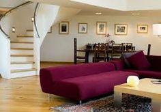 Purple furniture for living room