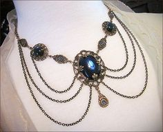 Renaissance Necklace Medieval Jewelry SCA Tudor by AfterDark, $68.00