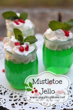 Mistletoe Jello Dessert