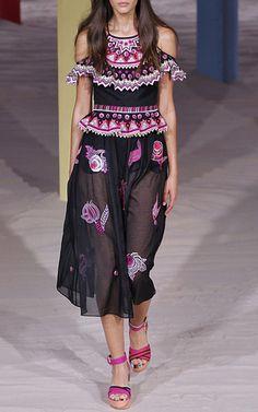 Wildflower Ruffled Dress by TEMPERLEY LONDON for Preorder on Moda Operandi