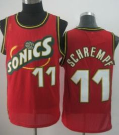 99822d7f0 Seattle Supersonics  11 Detlef Schrempf 1995-96 Red Throwback Swingman  Jersey