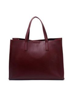 Square Solid Cowhide Leather Simple Medium Zipper Tote