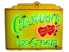 AW - Chapmans Ice Cream Porcelain Neon Sign