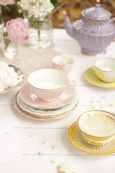 Tea Party...love that its mismatched