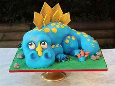 Dinosaur cake | Flickr - Photo Sharing! Dino Cake, Dinosaur Cake, Themed Birthday Cakes, Themed Cakes, 4th Birthday, Cupcakes, Cupcake Cakes, Cake Icing, Eat Cake