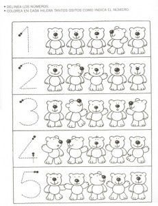 bear counting worksheet | Crafts and Worksheets for Preschool,Toddler and Kindergarten