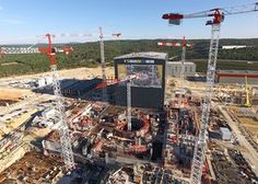 Once finished the reactor building will weigh 320,000 tonnes, three times more than the Eiffel Tower