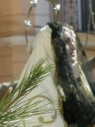 El Encuentro de Semana Santa en Tuéjar. Esta imágen solo ve la luz ese día al año.