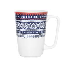 Maud krus - Blå m/gaveeske - Marius© Imperial Brand, Scandinavian, Mugs, Tableware, Pattern, Gifts, Blue, Design, Inspiration