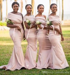 Bush Pink One Shoulder Mermaid Bridesmaid Dresses Long Simple Country Style Wedding Guest Dresses 2019 Plus Size Vestidos Bridesmaid Dresses African Bridesmaid Dresses Blush Pink Bridesmaid Dresses Online with $101.68/Piece on Cinderella_shop's Store | DHgate.com African Bridesmaid Dresses, Blush Pink Bridesmaid Dresses, Bridesmaid Dresses Plus Size, Cheap Homecoming Dresses, Bridesmaids, Wedding Party Dresses, Wedding Attire, Dresser, Country Style Wedding