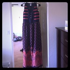 Maxi Dress Fun printed maxi dress for day or night wear. Lightweight and comfortable. Dresses Maxi