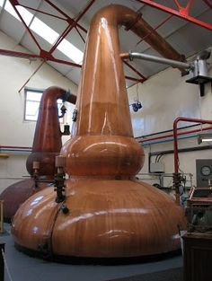 Glenfarclas has some of the most beautiful copper stills imaginable.