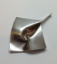 Vintage Finland Monderist Matti J. Hyvärinen Sterling Silver Abstract Pendant