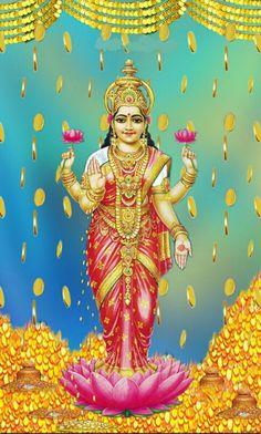 Countless hymns, prayers, shlokas, stotra, songs and legends dedicated to Mahalakshmi are recited during the ritual worship of Lakshmi Indian Goddess, Goddess Lakshmi, Lord Durga, Diwali Pooja, Happy Dhanteras, Shiva Linga, Lakshmi Images, Lord Vishnu Wallpapers, Shiva Wallpaper