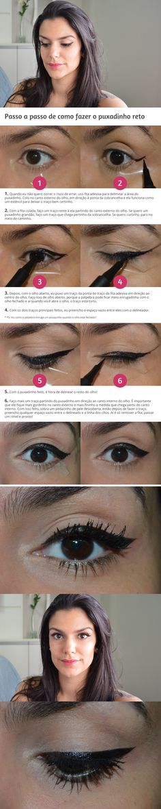Tutorial: Como eu delineio os olhos http://www.2beauty.com.br/blog/2015/02/27/tutorial-como-eu-delineio-os-olhos/ #tutorial #delineado