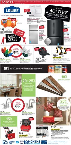 Lowe's Weekly Ad November 10 - 16, 2016 - http://www.olcatalog.com/home-garden/lowes-weekly-ad.html