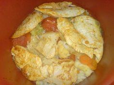 BROILERIGRATIINI - Resepti | Kotikokki.net Slow Cooker, Shrimp, Meat, Food, Essen, Meals, Crock Pot, Yemek, Eten