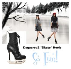 """""""They aren't really ice skates but"""" by stylemyride on Polyvore featuring Disney, Pretty Polly, Yves Saint Laurent, Eric Javits, Alice + Olivia, Dsquared2, Alexander McQueen, Dolce&Gabbana, Simone Perele and Chanel"""