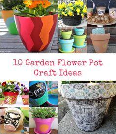 10 Garden Flower Pot Craft Ideas - Ottawa Mommy Club - Moms and Kids Online…
