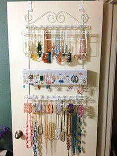 Longstem White Jewelry Organizer