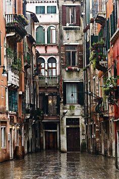Rainy Day in Venice, Italy
