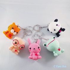 Meet our Cyarn Animals in keychain size.    Check out this item in my Etsy shop https://www.etsy.com/listing/206822252/c-yarn-animal-keychain