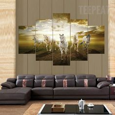A String of Horses Painting - 5 Piece Canvas #prints #prntable #painting #canvas #empireprints #teepeat