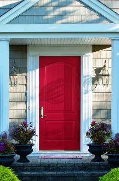 Cherry Pick Your Front Door To Make A Cheery First Impression. This Rich Red