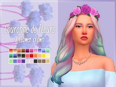 Sims 4 Updates: Nolan Sims - Accessories, Headwear : Flower crown, Custom Content Download!