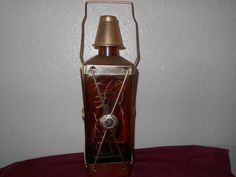 Musical Decanter Mid Century Glass and Copper by SETXTreasures