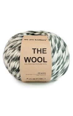 100% Wolle aus Peru Marmoriert Grau
