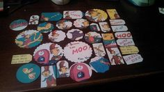 Mr Brown Can Moo Can You scrapbooking die cuts tags by amylaugh, $6.95