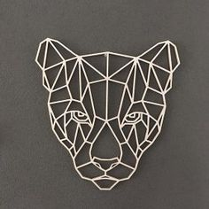 Wooden geometric animals for wall puma геометрия термопресс, геометрия y ги Geometric Drawing, Geometric Shapes, Geometric Animal, Animal Drawings, Art Drawings, Arte Linear, 3d Pen, Wooden Animals, 3d Prints