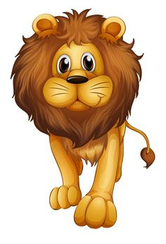 Find Illustration Big Lion On White Background stock images in HD and millions of other royalty-free stock photos, illustrations and vectors in the Shutterstock collection. Thousands of new, high-quality pictures added every day. Cartoon Cartoon, Cartoon Tiger, Cartoon Kunst, Cartoon Characters, Image Lion, Safari Png, Zoo Animals, Cute Animals, Cartoon Jungle Animals