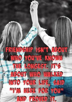 Yep! The first friend I ever had after I moved really isn't my friend anymore. One of my best friends is the one who walked into my life three years ago, and has proved that even through the challenges and hard times, she will always be there for me, and I will always be there for her. ♥️