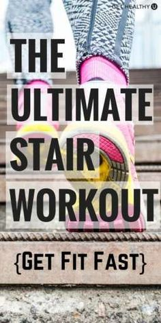 nutrition healthy food weight loss fitness tips Try 8 different moves in this ultimate run the stairs workout! Build strength and power in your lower body while your heart rate soars! Fitness Goals, Fitness Tips, Fitness Motivation, Health Fitness, Fitness Workouts, Fast Workouts, At Home Workouts, Workout Tips, Leg Workouts