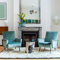 Tailored Blue side chairs