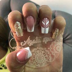 Fun Nails, Pretty Nails, French Acrylic Nails, Beauty Zone, Mani Pedi, Beauty Makeup, Diva, Nail Designs, Make Up