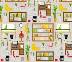 Architect's studio fabric by analinea on Spoonflower - custom fabric