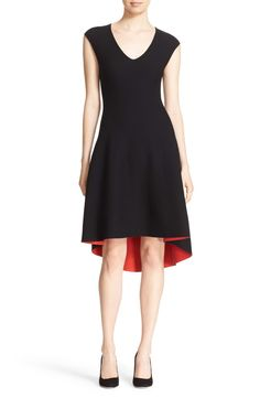 Milly Reversible V-Neck High/Low Knit Dress available at #Nordstrom