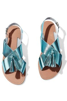 Hot Summer Fashion That Won't Burn Your Budget: A glam twist on traditional crisscross sandals. Sandals, $38; asos.com.