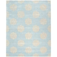 Handmade Soho Medallion Light Blue Wool Rug (12' x 15')