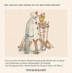 Herr #Janosch, was machen wir mit dem ersten #Schnee?