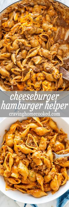 This Cheeseburger Hamburger Helper is a classic comfort food, but homemade and tastes way better. Forget the boxed version and make your own with just a few ingredients and ready in only 30 minutes. #hamburgerhelper #30minutemeals