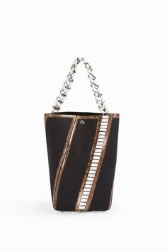 Proenza Schouler Hex Whip-stitch Detail Bag In Black Leather Whip, White Leather, Leather Shoulder Bag, Shoulder Bags, Black Canvas, Leather Ankle Boots, Proenza Schouler, Leather Satchel, Black And Brown