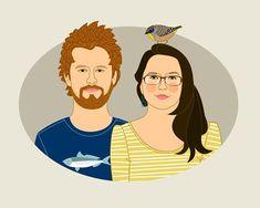 Gift for couples, Couples gift idea, Custom #weddings @EtsyMktgTool http://etsy.me/2y9USDc #customportrait #engagementgift #weddinggift
