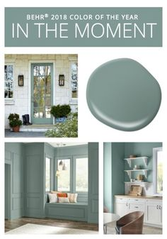 Colors of the Year BEHR Paint 2018 Color of the Year is In the Moment.BEHR Paint 2018 Color of the Year is In the Moment. Bedroom Paint Colors, Interior Paint Colors, Paint Colors For Home, Interior Design, Paint Colours, Bathroom Colors, Interior Door, Kitchen Colors, Bher Paint Colors